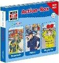 WAS IST WAS Junior Action-Box Feuerwehr/ Polizei/ Flughafen - Friederike Wilhelmi, Charlotte Habersack
