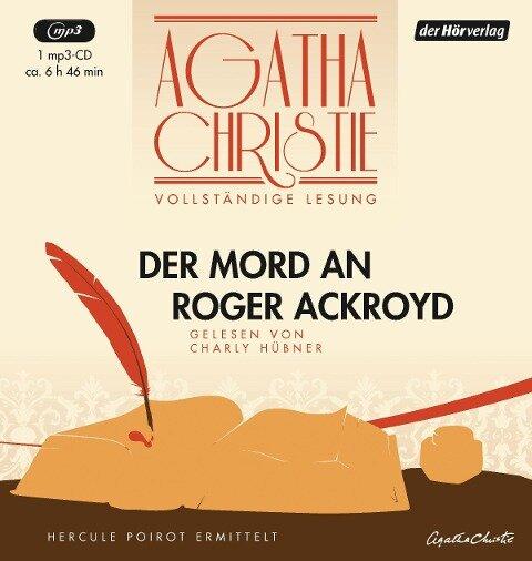 Der Mord an Roger Ackroyd - Agatha Christie