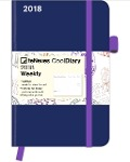 Cool Diary Wochenkalender Blue/Stamp 2018 9x14 -