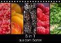 5 in 1 - aus dem Garten (Tischkalender 2017 DIN A5 quer) - Petra Neuner-Gyß