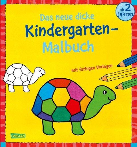Das neue, dicke Kindergarten-Malbuch: Mit farbigen Vorlagen und lustiger Fehlersuche -