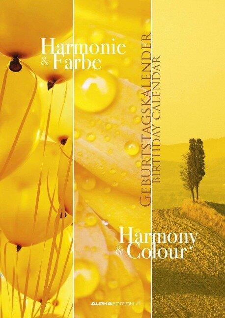 Geburtstagskalender Harmonie & Farbe immerwährend -