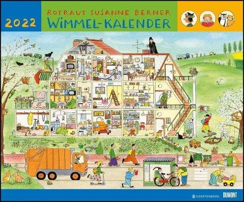 Wimmel-Kalender 2022 - DuMont Kinderkalender - Wandkalender 58,4 x 48,5 cm - Spiralbindung -