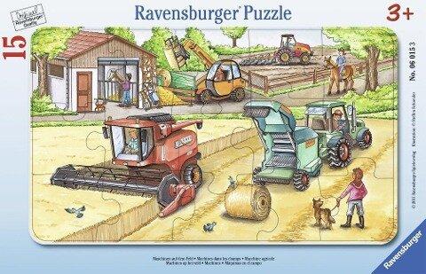 Maschinen auf dem Feld. Rahmenpuzzle (15 Teile)