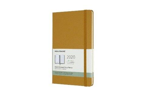 Moleskine 12 Monate Wochen Notizkalender 2020 Large/A5, 1 Wo = 1 Seite, Liniert, Fester Einband, Reifes Gelb - Moleskine