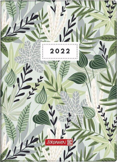"""BRUNNEN 1073115012 Wochenkalender """"Flowers"""" 2022 Modell 731 Grafik-Einband -"""