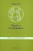 Register zu Alfred Quellmalz - Wiegand Stief