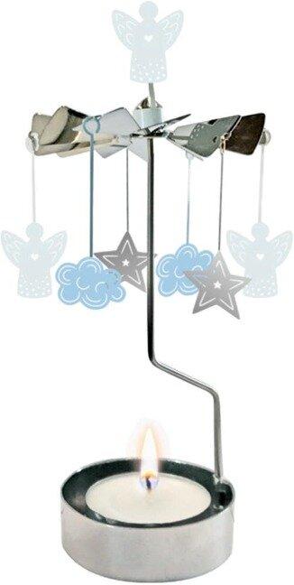 Metallfiguren Teelicht-Karussell - Ein Licht scheint für dich -