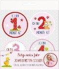 Meilenstein-Sticker - BabyGlück - Babys erstes Jahr (rosa) -