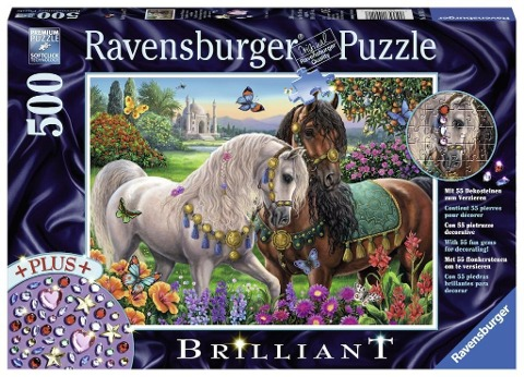 Glitzerndes Pferdepaar Sonderserie 500 Teile Puzzle -