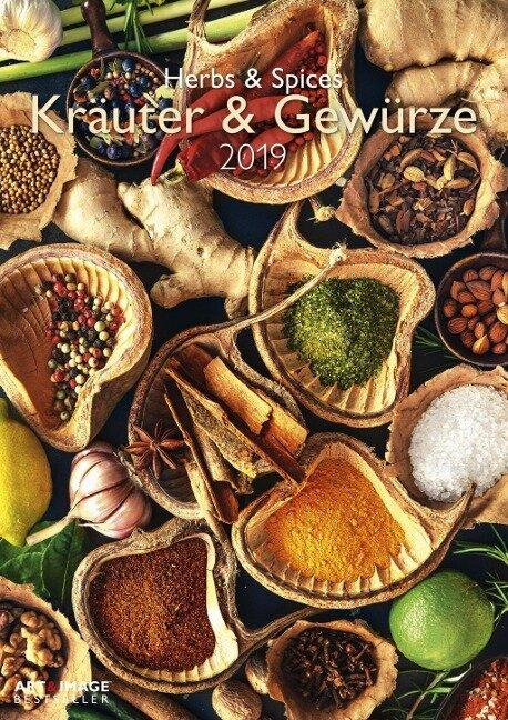 Kräuter & Gewürze 2019 Wandkalender -
