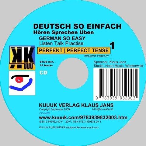 Deutsch So Einfach - Hören Sprechen Üben 1 - German So Easy - Talk Listen Practise 1 - Klaus Jans