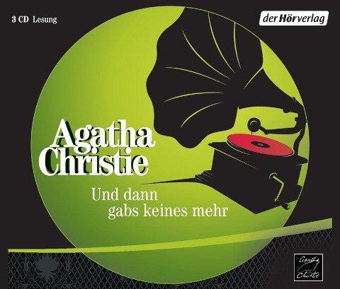 Und dann gabs keines mehr. 3 CDs - Agatha Christie