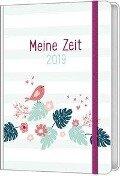Meine Zeit 2019 - Taschenkalender (Farbenfroh) -