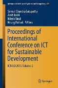 Proceedings of International Conference on ICT for Sustainable Development -