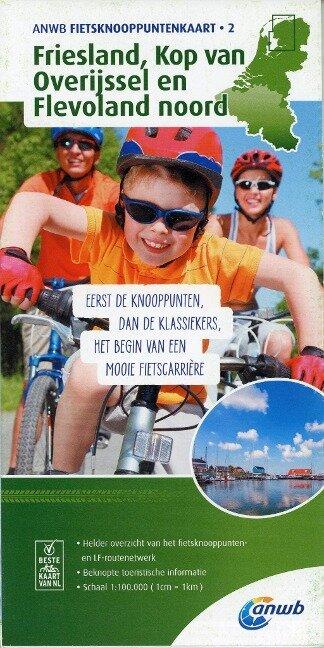 Knotenpunktkarte 02 Friesland, Kop van Overijssel en Flevoland noord 1:100 000 -