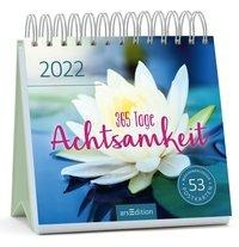 Postkartenkalender 365 Tage Achtsamkeit 2022 -