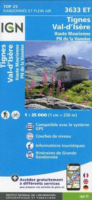 Tignes - Val d'Isère - Haute Maurienne - Parc National de la Vanoise 1:25 000 -