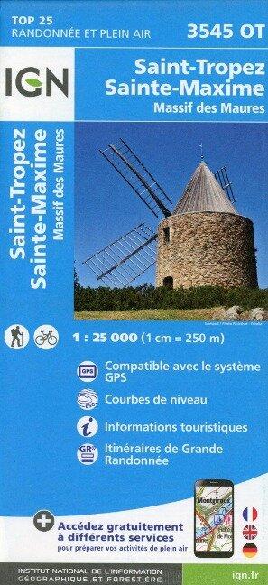 Saint Tropez Sainte-Maxime. Massif des Maures 1:25 000 -