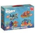 Disney Finding Dory 4in1 Konturenpuzzle 8/10/12/14 Teile -
