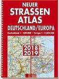 Neuer Straßenatlas Deutschland/Europa 2018/2019 -