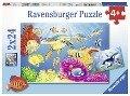 Kunterbunte Unterwasserwelt. Kinderpuzzle 2 x 24 Teile -