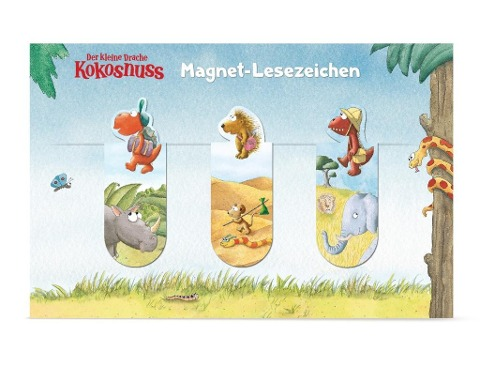 Der kleine Drache Kokosnuss - Magnet-Lesezeichen -