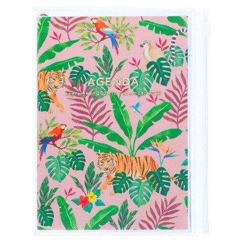 MARK'S 2021/2022 Taschenkalender A6 vertikal, Storage it, Jungle // Pink -