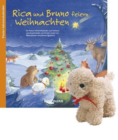 Rica und Bruno feiern Weihnachten mit Stoffschaf - Kristin Lückel