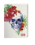 Totenkopf 17-Monats-Kalenderbuch A6 - Kalender 2019 -