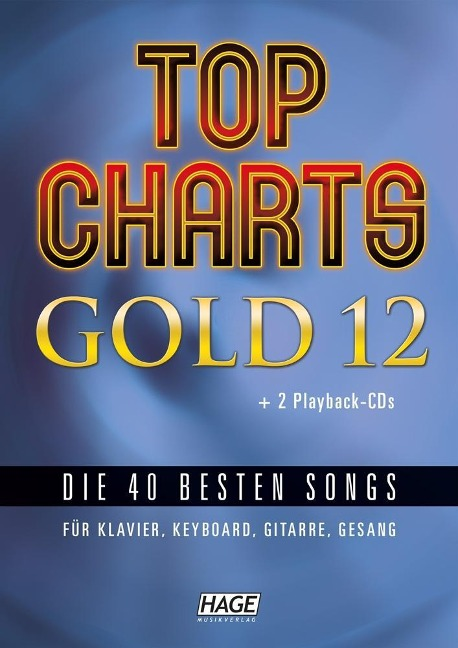 Top Charts Gold 12 (mit 2 CDs + Midifiles, USB-Stick) -