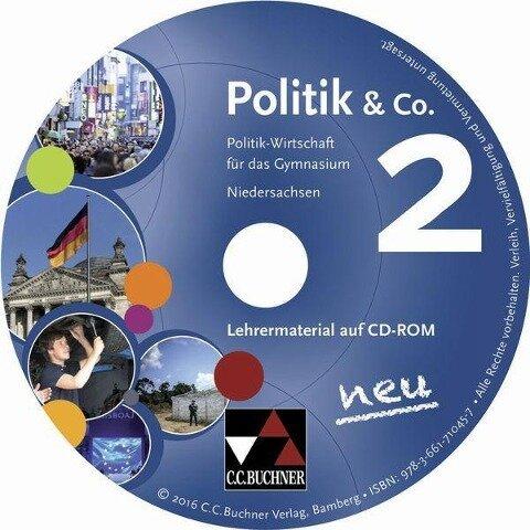 Politik & Co. neu 2 Lehrermaterial Niedersachsen - Erik Müller, Stephan Podes, Hartwig Riedel, Martina Tschirner
