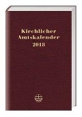Kirchlicher Amtskalender 2018 - rot -