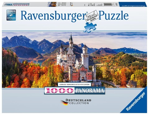Schloss in Bayern. Panorama Puzzle 1000 Teile -