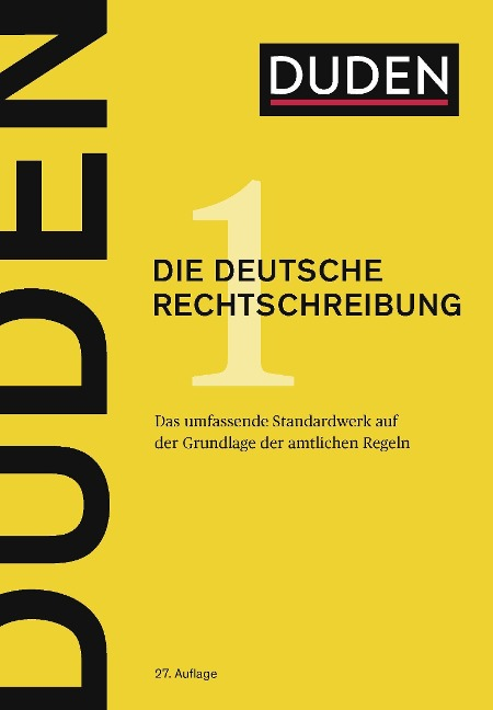 Duden 01 - Die deutsche Rechtschreibung -