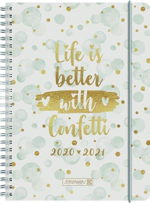 BRUNNEN 1072150091 Wochenkalender/Schülerkalender 2020/2021 Confetti -