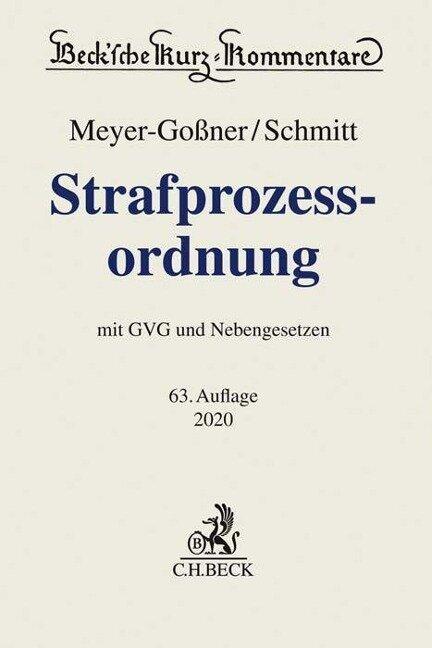 Strafprozessordnung - Bertram Schmitt
