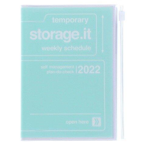 MARK'S 2021/2022 Taschenkalender A6 vertikal, Storage it // Mint -