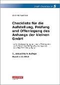 Checkliste 5 für die Aufstellung, Prüfung und Offenlegung des Anhangs der kleinen GmbH - Wolf-Michael Farr