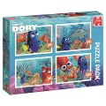 Disney Finding Dory Puzzle 4 in 1 Formenpuzzle. Bumper Pack -