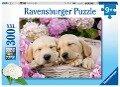 Süße Hunde im Körbchen. Kinderpuzzle 300 Teile -