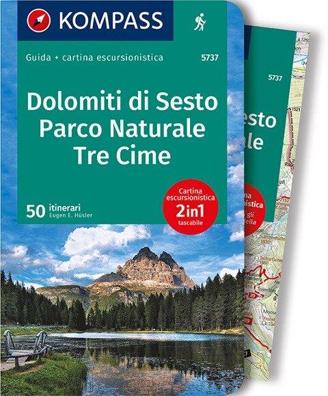 KOMPASS guida escursionistica Dolomiti di Sesto, Parco Naturale Tre Cime, italienische Ausgabe - Eugen E. Hüsler