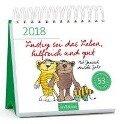 Lustig sei das Leben, hilfreich und gut 2018 Postkartenkalender - Janosch
