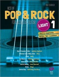 Best of Pop & Rock for Acoustic Guitar light 1 - Beat Scherler