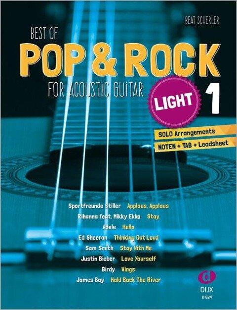 Best of Pop & Rock for Acoustic Guitar light 1 - Beat Scherler