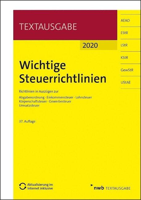 Wichtige Steuerrichtlinien 2020 -