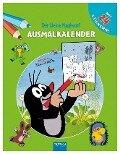 Ausmalkalender der kleine Maulwurf -