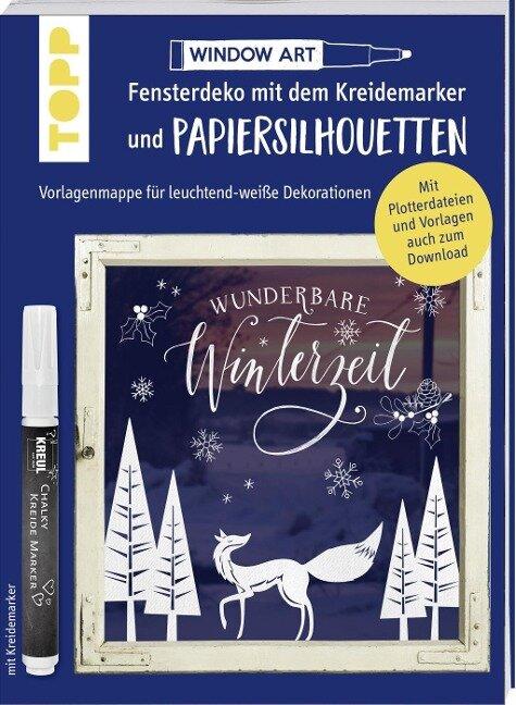 Vorlagenmappe Fensterdeko mit dem Kreidemarker & Papiersilhouetten - Wunderbare Winterzeit. - Miriam Dornemann