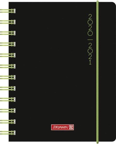BRUNNEN 1071750121 Tageskalender/Schülerkalender 2020/2021 Plain Black -