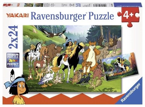 Yakaris tierische Freunde 2 x 24 Teile Puzzle -